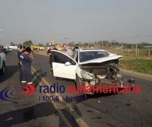 foto: Feroz choque entre dos vehículos sobre Avenida Maipú