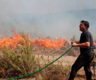 foto: La desesperación de Damián De Santo por los incendios en Villa Giardino