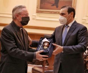 foto: Valdés ratificó su acompañamiento a las comunidades religiosas