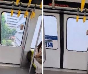 foto: En Singapur, las ventanas de los trenes se vuelven opacas automáticamente al pasar por una zona residencial