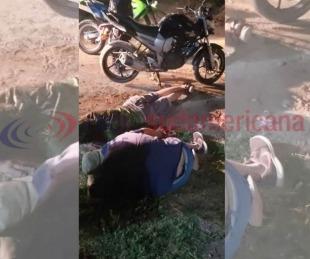 foto: Escapaban de la policía en una moto robada, cayeron y fueron detenidos